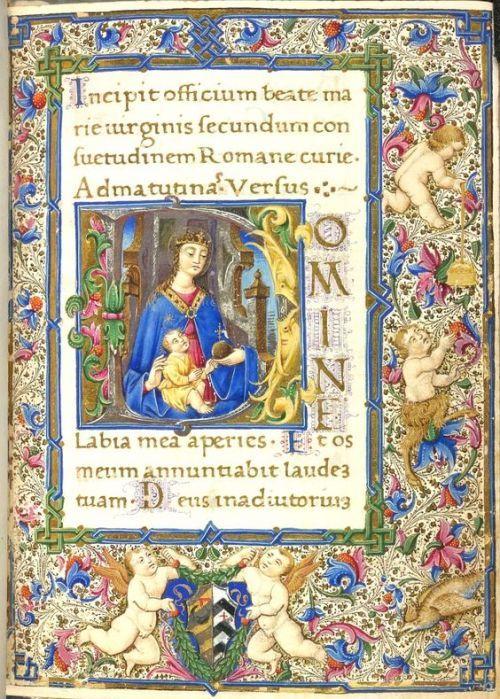 Livro das Horas, Uso de Roma Itália, S. (Nápoles);  Fonte 1477