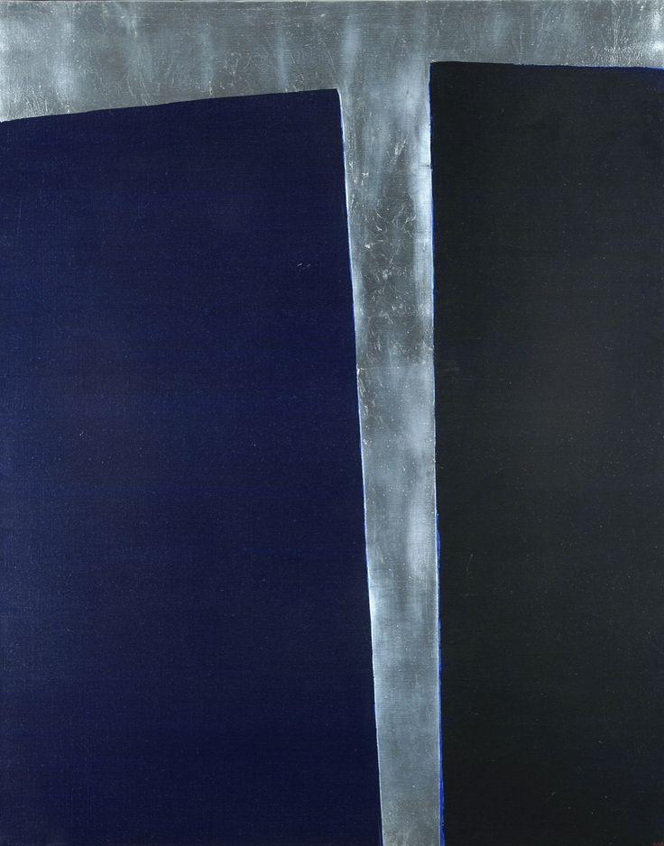 Anna-Eva Bergman ~ No. 16, Fente, 1975 (acrylic, metal)