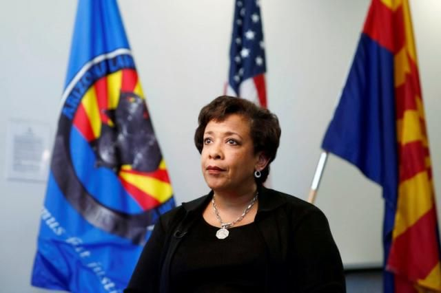 Is she this ignorant??? ---> Bill Clinton meeting casts pall over email probe: Lynch - United States Attorney General Loretta Lynch speaks to Reuters in an exclusive interview in Phoenix, Arizona, U.S., June 28, 2016. REUTERS/Nancy Wiechec