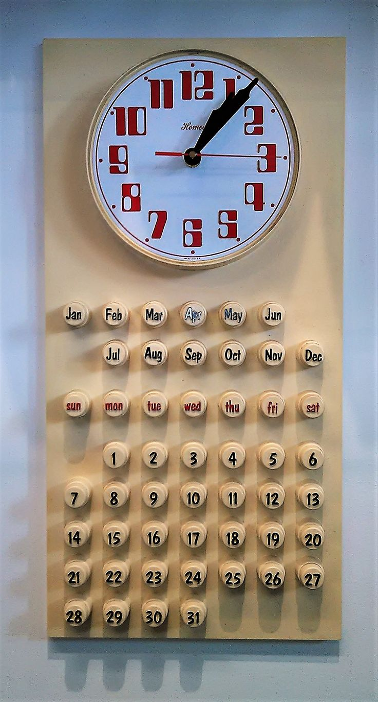 44 best vintage watch and clock repairs images on pinterest repair of the week we installed a new movement in this plastic kitchen wall clock with calendar amipublicfo Images