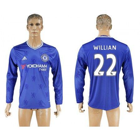 Chelsea 16-17 #Willian 22 Hjemmebanetrøje Lange ærmer,245,14KR,shirtshopservice@gmail.com