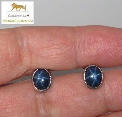 2.6 CT BLUE STAR SAPPHIRE EARRINGS - G