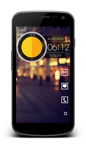 Clean, Simple, And Minimal Android Home Screen Layout And Design