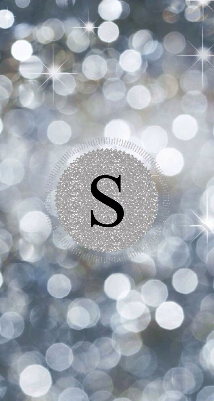 Sparkly silver monogram by LIL'RO.  Made with @monogramapp
