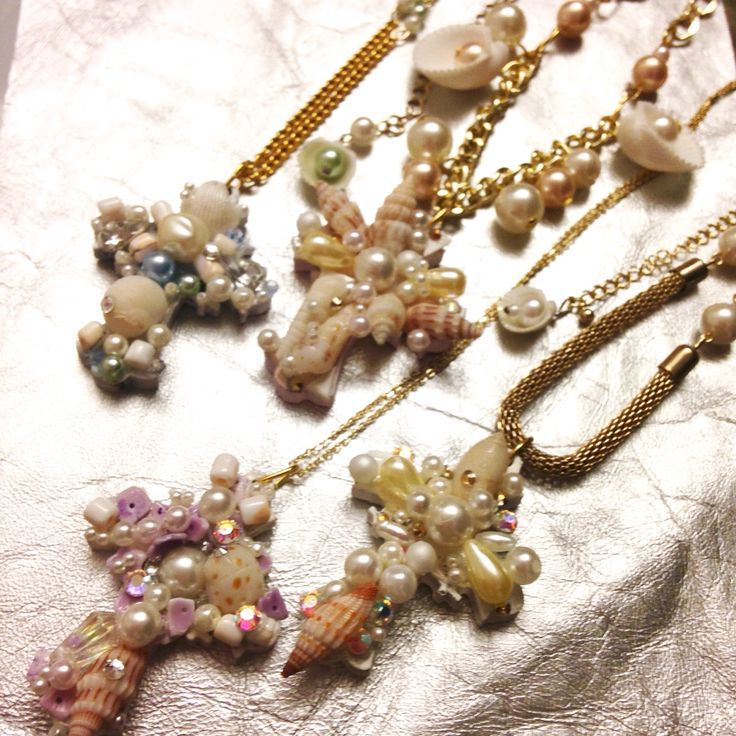 shell decorated rosaries by sweet sorrow http://minne.com/sweetsorrow