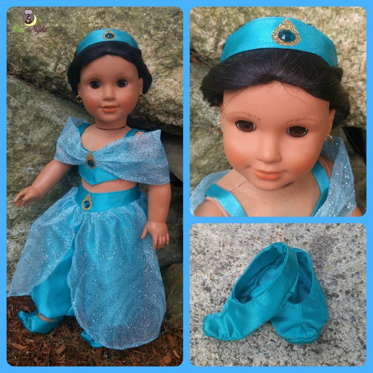 """American Made Arabian Princess Costume fits 18"""" Girl Dolls - pinned by pin4etsy.com"""