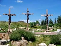 The shrine of Christ's passion- St. John, Indiana Near me. Several scenes from Jesus' last week on earth are depicted.