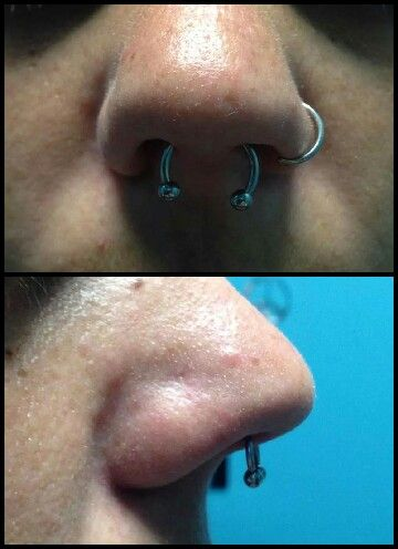 Septum piercing done by me