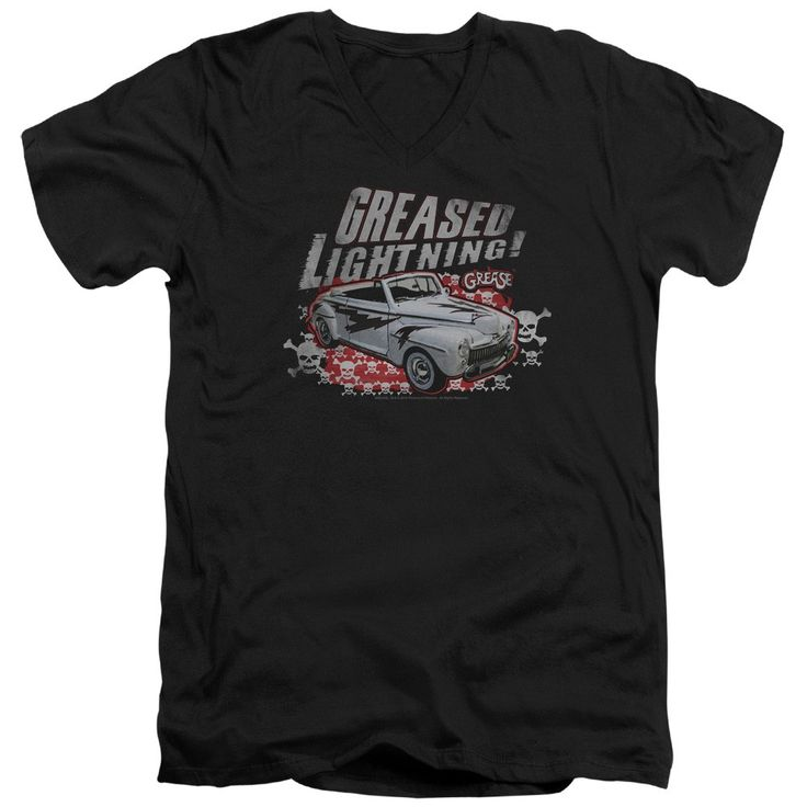 """Checkout our #LicensedGear products FREE SHIPPING + 10% OFF Coupon Code """"Official"""" Grease / Greased Lightening - Short Sleeve Adult V-neck - Grease / Greased Lightening - Short Sleeve Adult V-neck - Price: $34.99. Buy now at https://officiallylicensedgear.com/grease-greased-lightening-short-sleeve-adult-v-neck"""