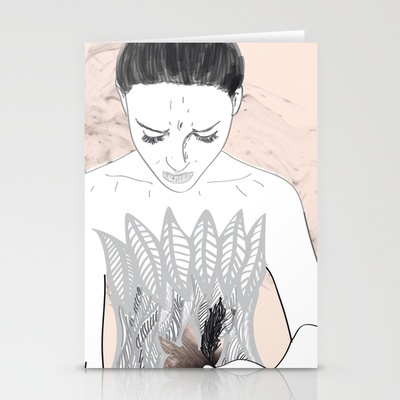Black Swan  Stationery Cards by Eltina Giannopoulou - $12.00