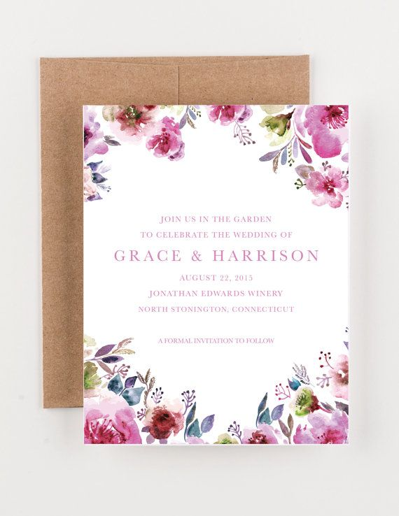 Hey, I found this really awesome Etsy listing at https://www.etsy.com/listing/217316294/watercolor-floral-save-the-date-bridal