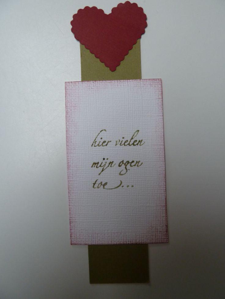 achterkant bladwijzer - tekstje met een knipoogje