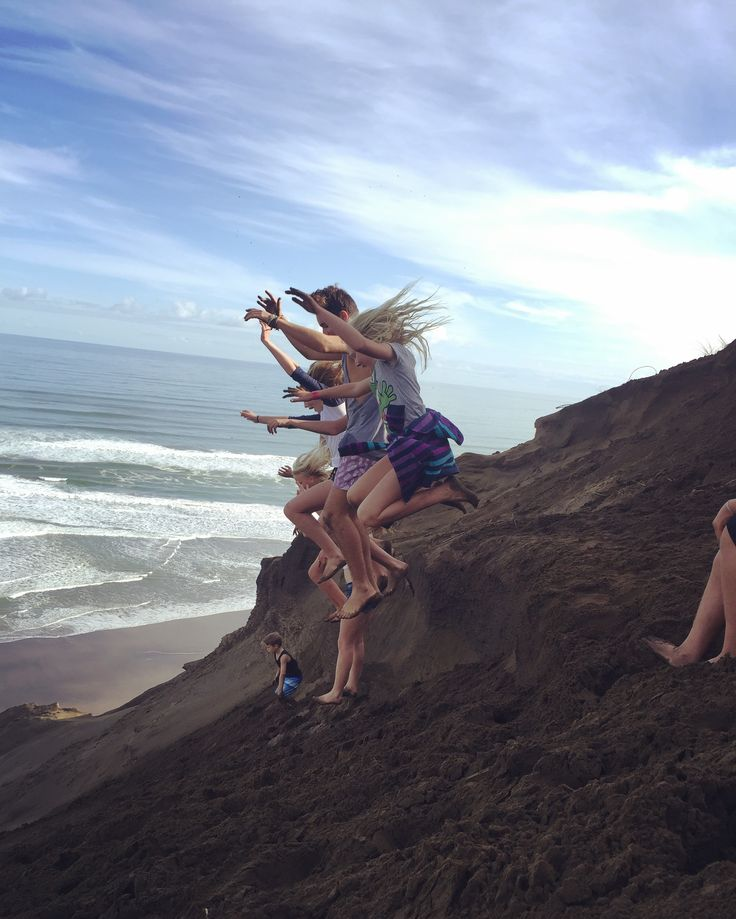 Jumping on the sand dunes! - Awhitu, NZ (2016)