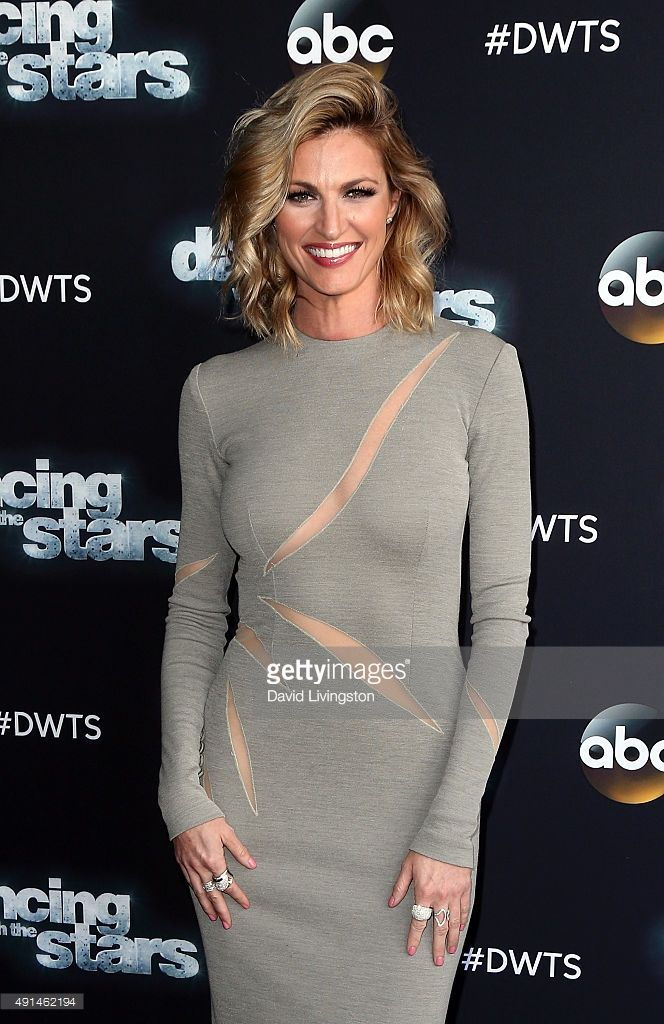 TV personality Erin Andrews attends 'Dancing with the Stars' Season 21 at CBS Televison City on October 5, 2015 in Los Angeles, California.