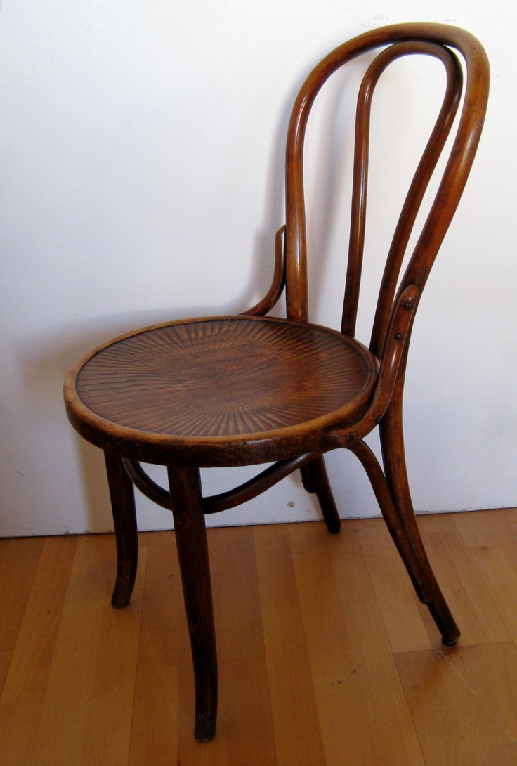 Vintage thonet style cafe chairs with stenciled seats - Jacob And Josef Kohn Bentwood Thonet Cafe Chair Made In Poland 1914 Excellent Vintage Condition
