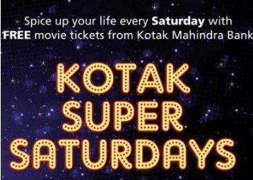 KOTAK Mahindra Bank PVR Buy 1 Get 1 Offer : Buy 1 Get 1 Movie Ticket Free Saturday