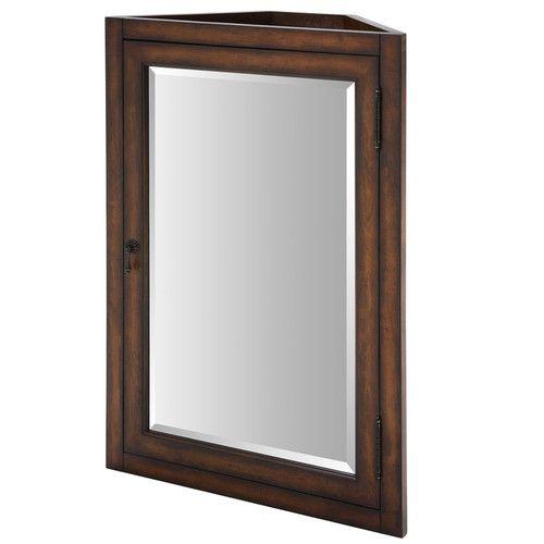 "Found it at Wayfair - Malago 24"" Corner Mirrored Medicine Cabinet - Distressed Maple"