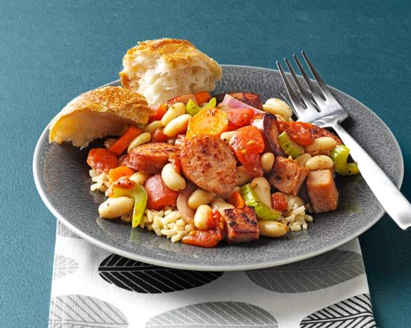 Skillet Cassoulet - This dish is full of flavor, and the little spice from the kielbasa makes a nice hearty combo for a flavorful meal. http://www.thedailymeal.com/skillet-cassoulet-recipe