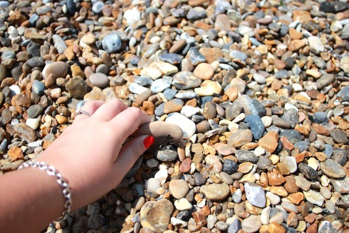 tanya burr: We spent a good hour skimming stones, Jim was a pro...I spent ages finding the perfect stone only to plop it straight into the sea without skimming it!