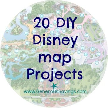 20 DIY Frugal Disney Map Projects - Get a free Disney map and make some awesome momentos with it!