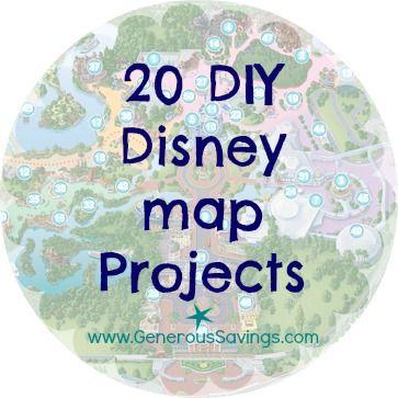 DIY disney map projects