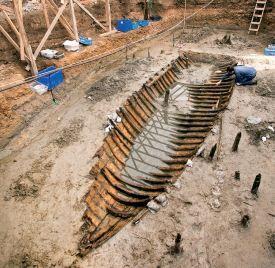 Ship from 10.Century in Yenikapı, İstanbul