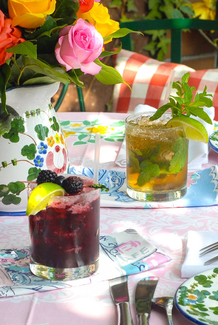 Black Pearl - Stolichnaya Elit Vodka with Muddled Fresh Blackberries and a Splash of Fresh Lime at the Ivy restaurant, Los Angeles