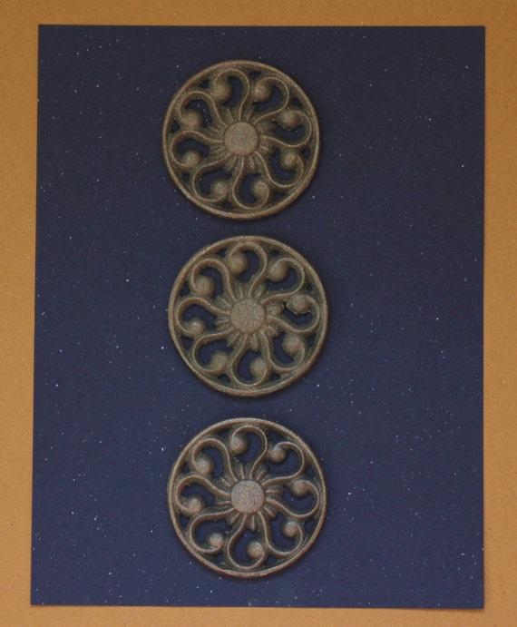Rustic Refrigerator Magnets Metal Magnet Set by sweetrenderings, $12.00