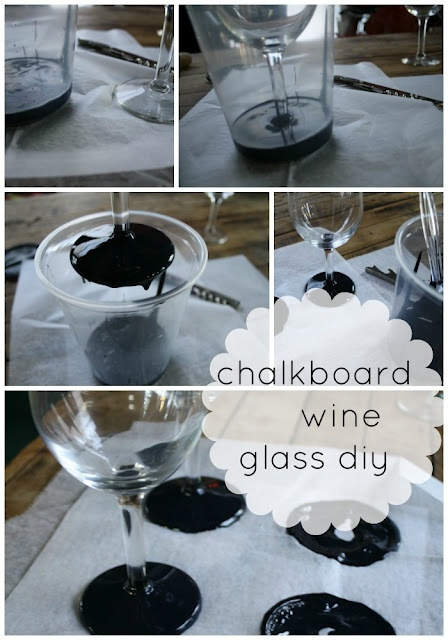 craft ideas for wine glasses diy chalkboard wine glasses this nifty earth 6271