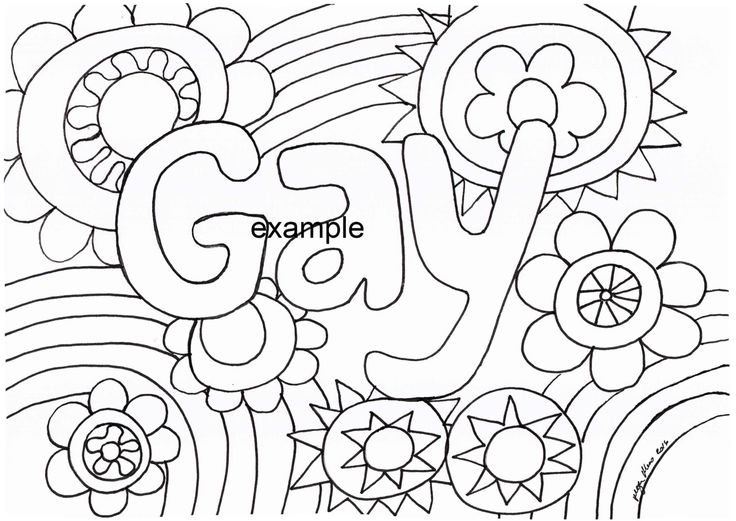 Gay, LGBTIAPQ, Adult Colouring in by ArachneArt on Etsy