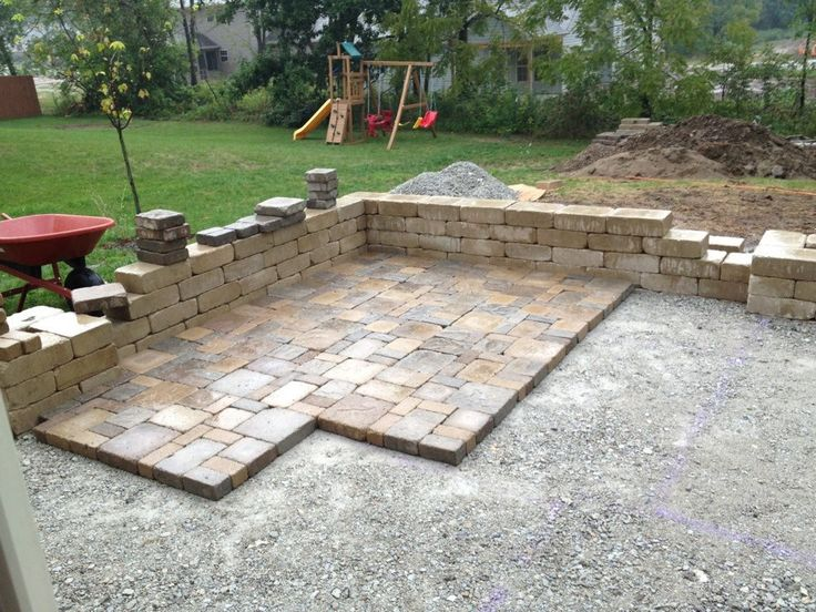 29 best how to build stone patio images on pinterest stone