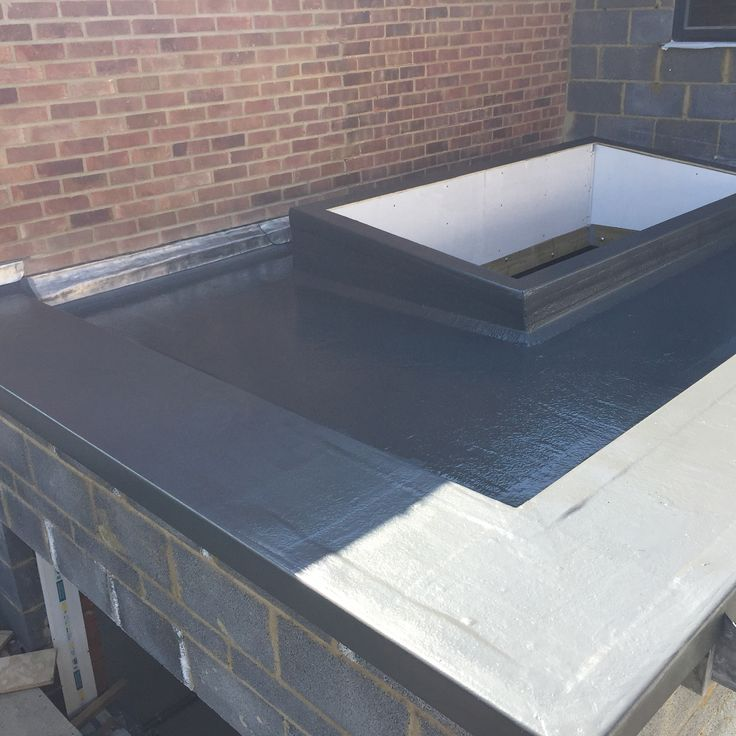 GRP Roof around large kitchen roof light.
