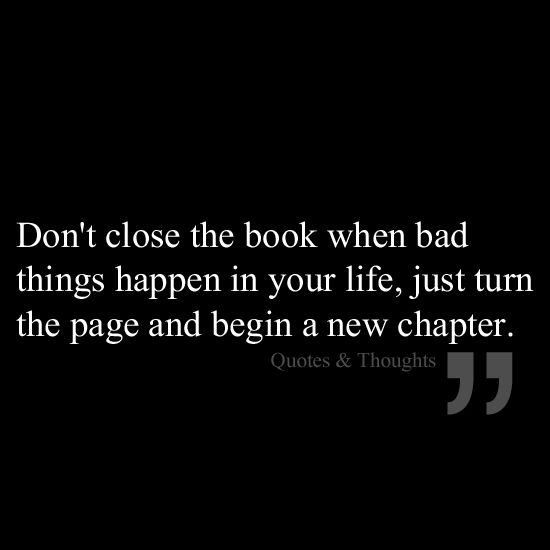 Bad Things Happen Quotes: 17 Best Images About Chapter 1: A New Beginning On