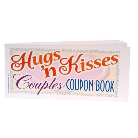 Keep the fun rolling with the hugs and kisses coupons The Hug N' Kisses Coupon is a fun creation of Pipedream Products, which is well known for its naughty gags, gifts and games catalogue. This lovely little coupon book contains 27 intriguing requests from chores, dates, intimate romantic alone time or even some fun couple time. Surprise your lover by giving them this wonderfully entertaining gift of spontaneity that will essentially spark up your love life and enhance the bedroom passion…