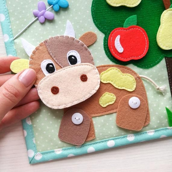 Quiet Book Toddler Tablet About The Farm And Pets Felt Barn Etsy Quiet Book Baby Quiet Book Toddler Quiet Book