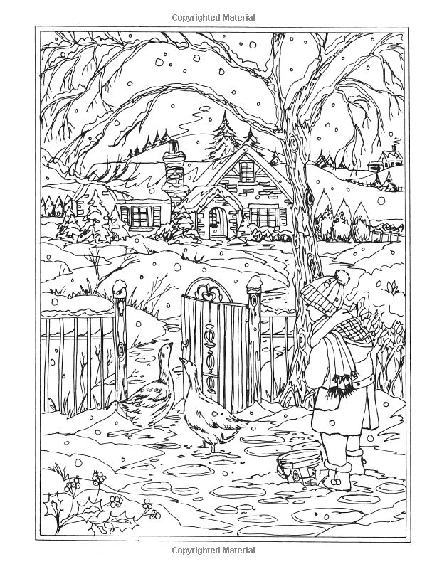 Amazon Creative Haven Winter Wonderland Coloring Book Adult
