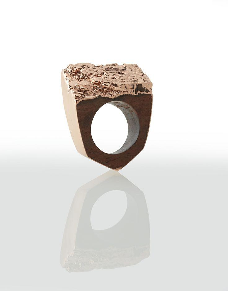 Bibinga and copper ring www.dianeturnerjewellery.com