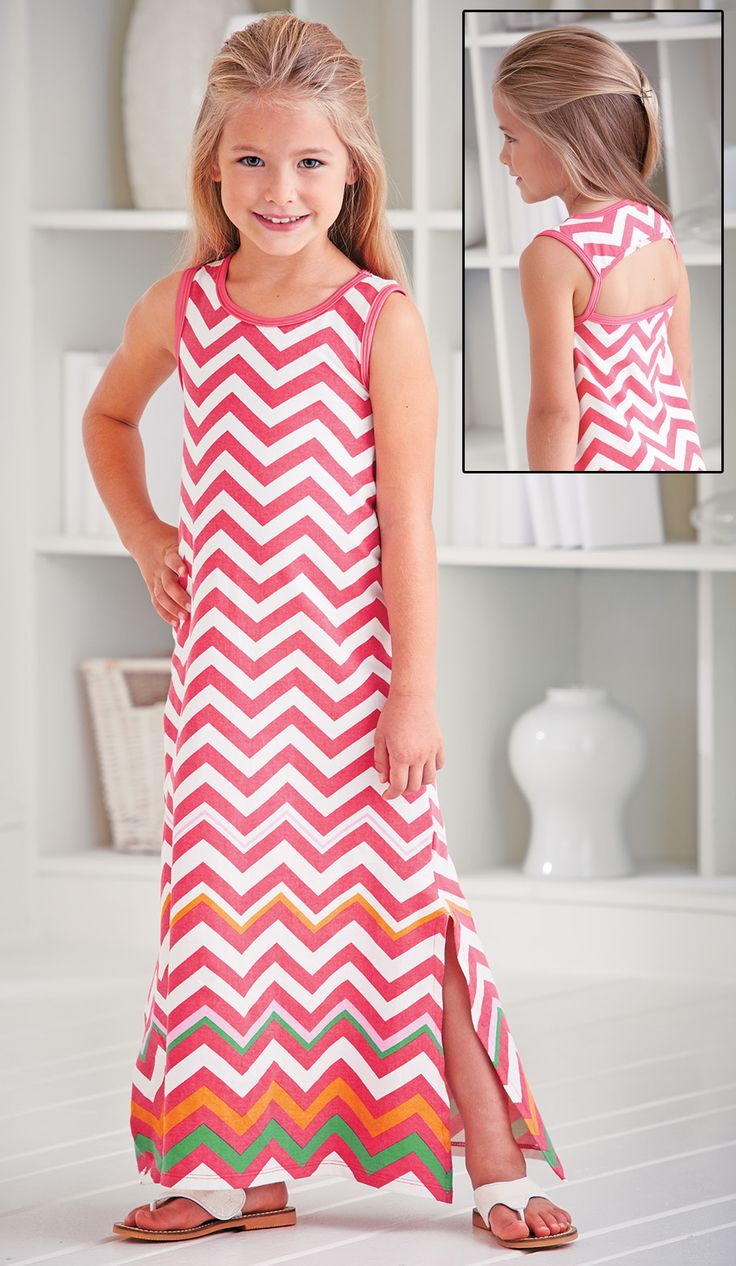 From CWDkids: Avery Chevron Maxi Dress.