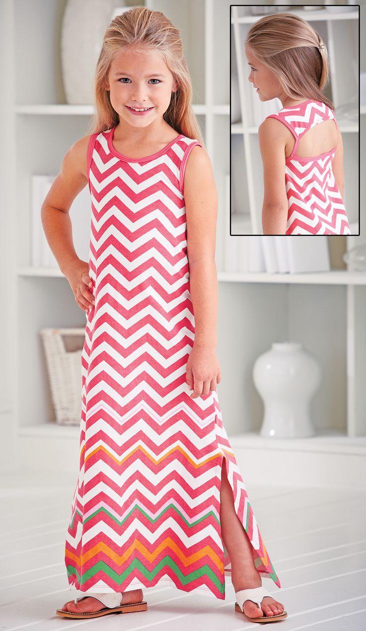 From CWDkids: Avery Chevron Maxi Dress.