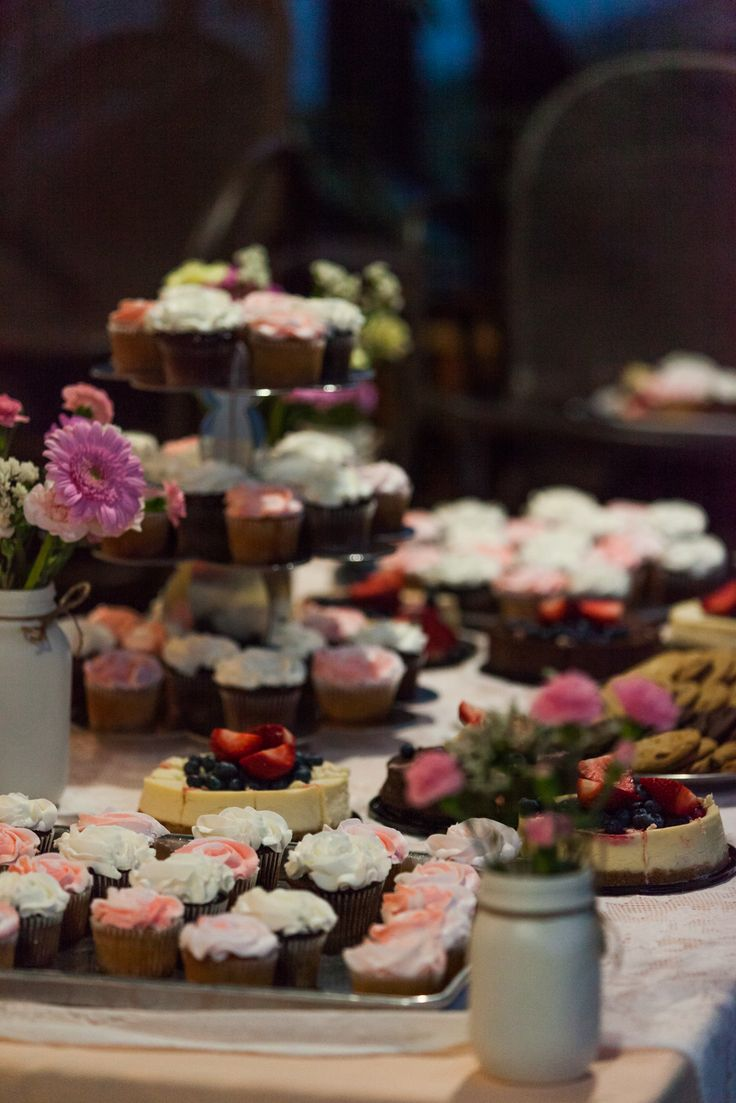 Dessert table. Cupcakes. Cheesecake. Cookies. Squamish wedding.