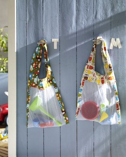 Fliegengitter--> Tasche für Sandspielzeug
