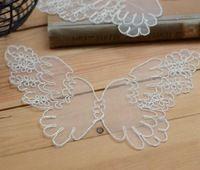 10 шт. бабочка венеция венеция белый прозрачный кружева аппликация швейные планки DIY ремесло - HBLX
