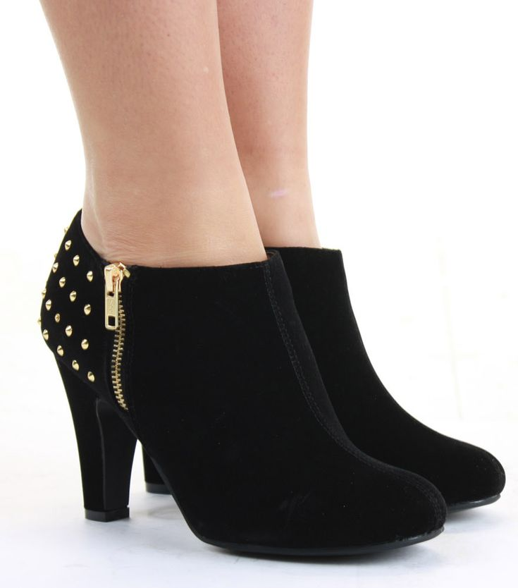 medium heel shoes | Ladies Medium Low Heel Shoes Short Booties Mid Winter Ankle Boots Size ...