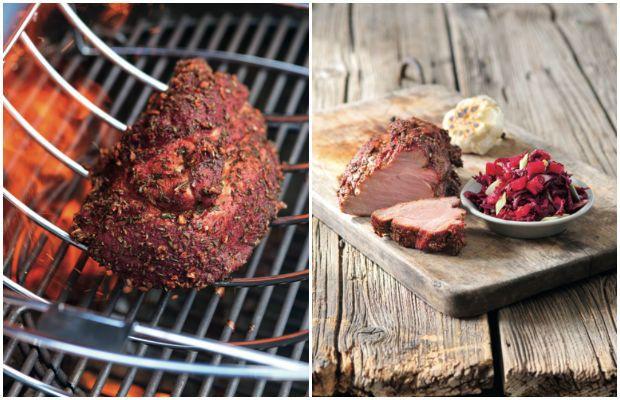 Vepřová krkovice na grilu s česnekem a salátem z červené řepy, Foto: Alena Hrbková