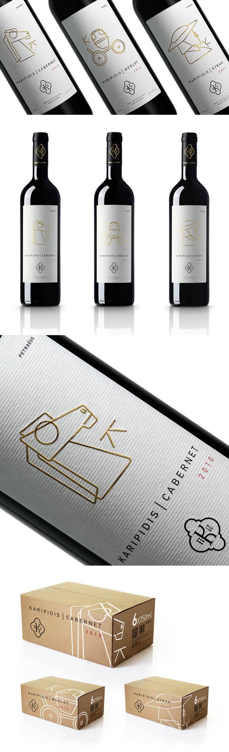 Karipidis Winery Packaging Design #TANINOTANINO
