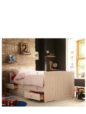 KidspaceGeorgie Solid Pine Single Storage Bed Frame - Optional Assembly Service