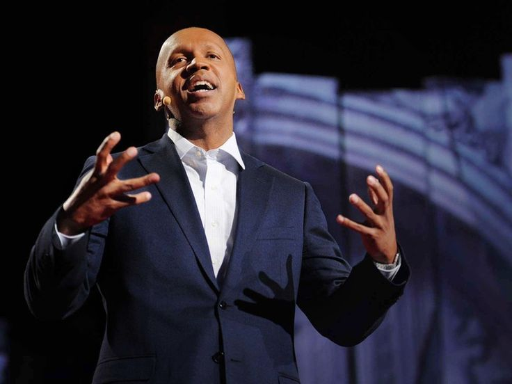 """Each year, we ask students """"What's the core reason you're involved in service and social justice work?"""" Human Rights lawyer Bryan Stevenson gives a powerful answer to this question in his TED Talk:"""