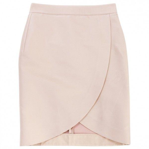 PINK TULIP SKIRT STELLA MC CARTNEY (£141) ❤ liked on Polyvore featuring skirts, bottoms, faldas, stella mccartney, tulip skirt, stella mccartney skirt and pink skirt