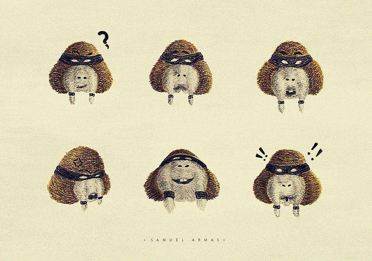 Un conjunto de 6 expresiones basicas para un personaje de historieta.  FACEBOOK: www.facebook.com/samuel.saldanaarmas.3