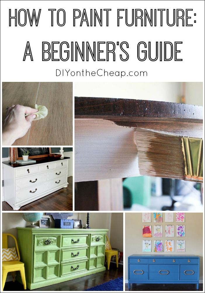 How to Paint Furniture: A Beginner's Guide {Furniture 101 -- the basics.} http://www.mannyyoung.co.uk/